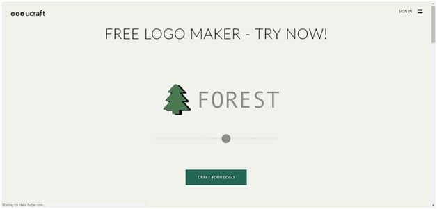 Ucraft Free Logo Design